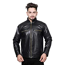 Buy Men's Solid Biker Jacket India 2021