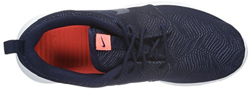 Nike Wmns Roshe One Moire, Zapatillas de Deporte para Mujer Azul Marino (Obsidian / Obsdn-White-Brght Mng)
