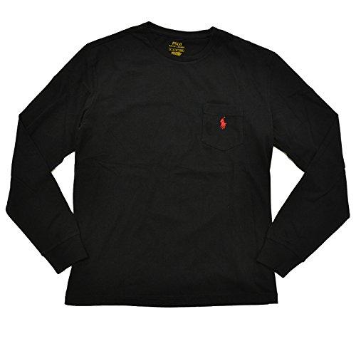 Polo Ralph Lauren Mens Long Sleece Pocket Crew Neck T Shirt (X-Large, RL - Rl Polo