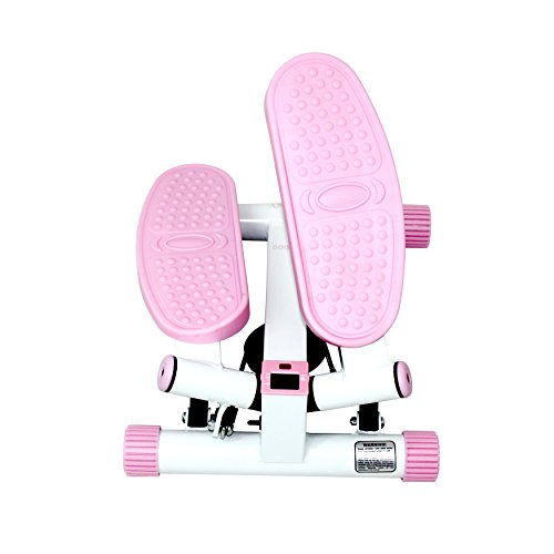 Sunny Health and Fitness Adjustable Twist Stepper, Pink