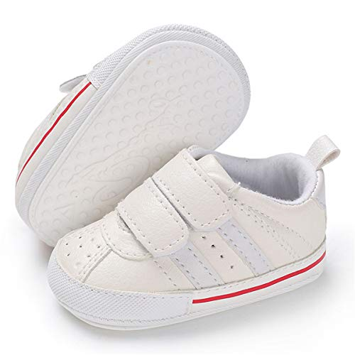 Infant Baby Boys Girls Tennis Shoes Soft Sole Non Slip Toddler First Walker Crib Shoes (0-6 Months M US Infant,A-Beige Baby Shoes