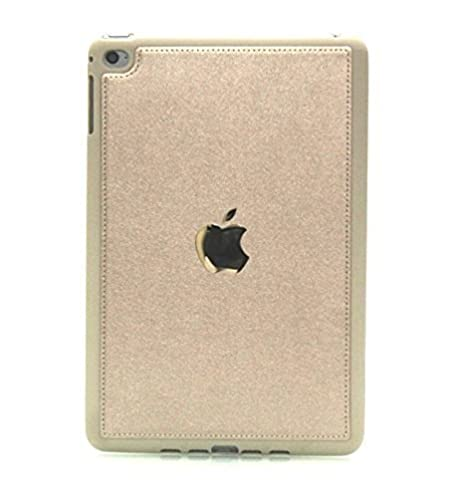 Helix Full Leather Back Cover for Apple Ipad Mini 4 Gold Mobile Accessories
