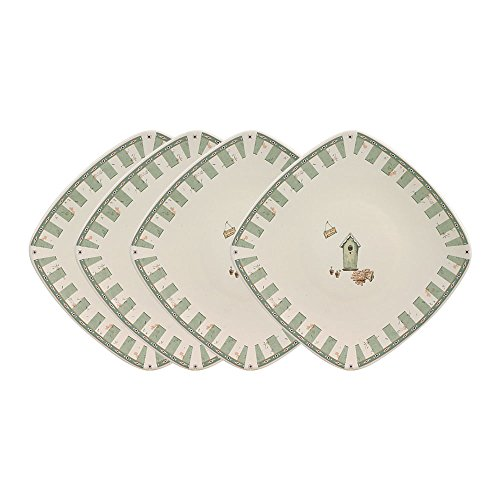 Pfaltzgraff Naturewood Square Salad Plate (8-1/4-Inch, Set of 4)