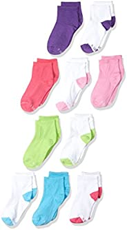 Hanes girls Comfortblend 10 Pack Ankle Socks Socks