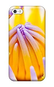 Durable Case For The Iphone 5/5s- Eco-friendly Retail Packaging(purple Water Lily)