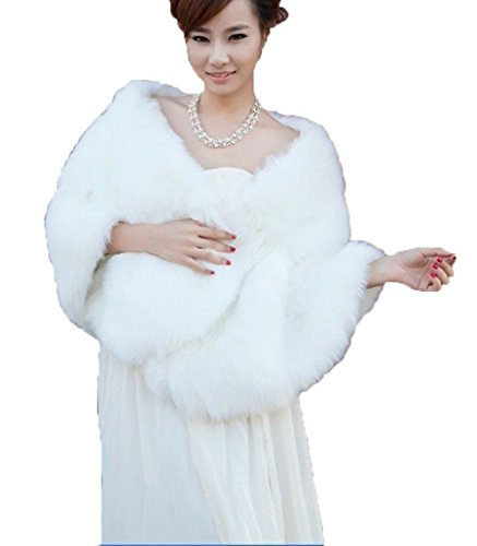 pinkmerry-winter-womens-faux-fur-wrap-cape-stole-shawl-bolero-jacket-coat