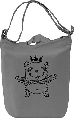 Graphic Panda Borsa Giornaliera Canvas Canvas Day Bag| 100% Premium Cotton Canvas| DTG Printing|