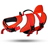 HUGALLUR Dog Life Jacket Ripstop Pet Floatation Vest Safety Life Saver Preserver with Rescue Handle at The Pool, Beach, Boating