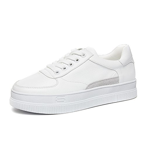 NGRDX&G Calzado Zapatos Blancos Zapatos Casuales De Fondo Grueso De Mujer White