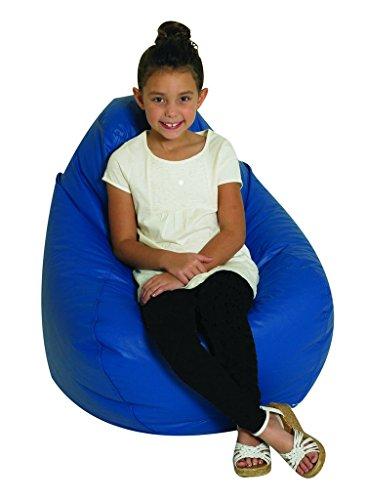 Children's Factory Tear Drop Bean Bag - Blue Classroom Furniture ()