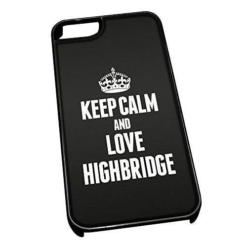 Nero cover per iPhone 5/5S 0327 nero Keep Calm and Love Highbridge
