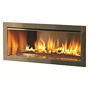 Firegear OD42-N Linear Outdoor Fireplace, 42-inch, Natural Gas, 2-inch Surround