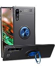 Compatibel Samsung Galaxy Note 10 hoes siliconenhoes met magneetringhouder hoezen stootvast beschermhoes krasbestendig telefoonbescherming anti-slip telefoonhoes