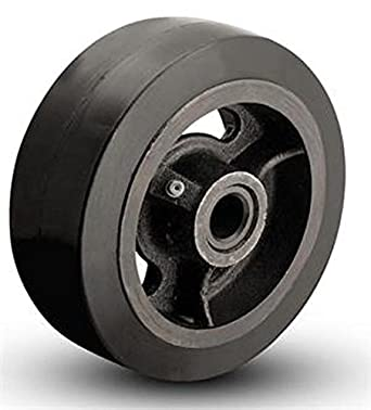 4″ X 2″ MOLD-ON RUBBER STEEL WHEEL