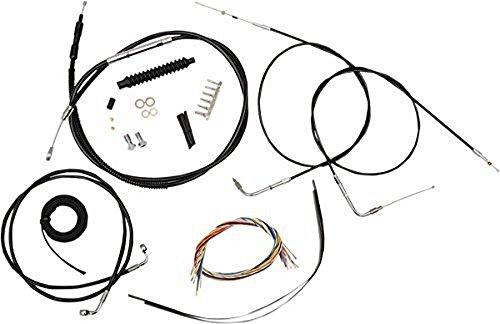 LA Choppers Black Complete Cable/Line/Wiring Handlebar Kit for 12'-14' Bars LA-8310KT2-13B