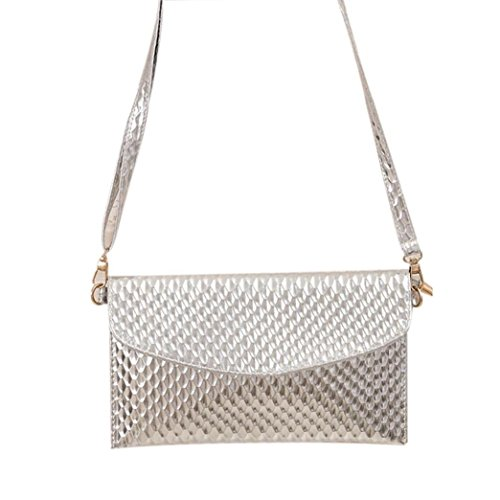 Girls Silver Handbag (Outtop Clutches Cross Body Hobo Tote Bags Handbag for Women Girl (Silver))