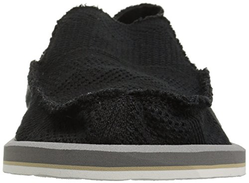 Sanuk Heren-taxus Gebreide Loafer Zwart / Charcoal