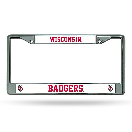 NCAA Wisconsin Badgers Chrome Plate - License Plate Wisconsin Frame Badgers