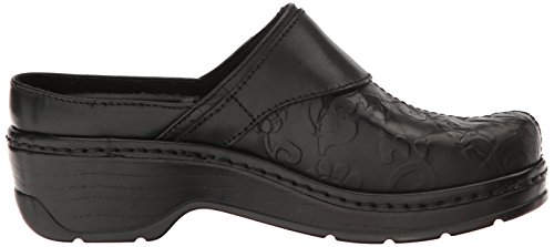 Austin Back Klogs Clog Women's USA Black Open Tool Flower vgn6zpq