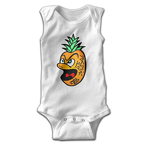 [YiYa Infants Boy's & Girl's Pineapple Short Sleeve Jumpsuit Outfits For 0-24 Months White 24 Months] (Toddler Conductor Outfit)