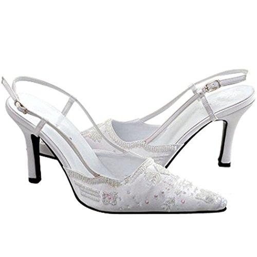 Minitoo ,  Damen Modische Hochzeitsschuhe White-6.5cm Heel