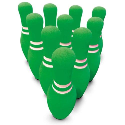 MAC-T PE08674 Foam Bowling Pin Set, Neon Green with White...
