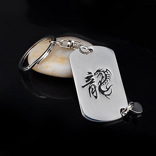 MZP Soaring Dragons Dragon signe du zodiaque du porte-cl/és en m/étal Zodiac petit cr/éatif et pratique voiture avec un cadeau cl/é de la cha/îne pour les hommes