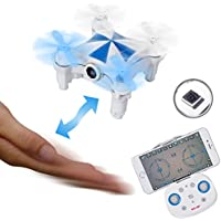 SGILE Mini UFO RC Camera Drone Toy for Kids Birthday Present, Romote Control Quadcopter Drone with Movement Sensor 360 Rotation Return for Kids Child