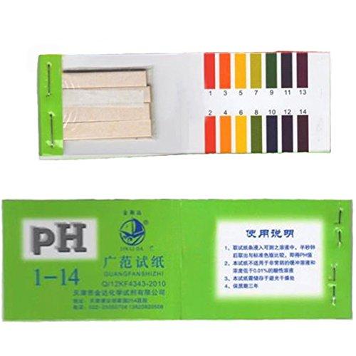 80 Tester Indefectible Popular pH Test Strips Acid Alkaline Sensitive Results Full Range Evaluate with Color Chart
