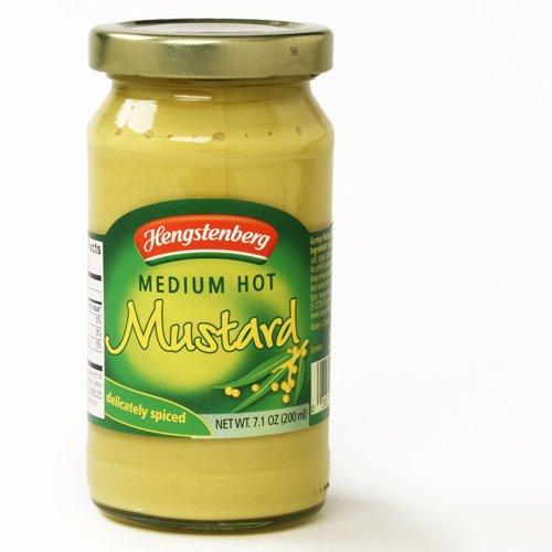 Hengstenberg Mustard in Glass Jar - Original (Medium Hot) (7.1 - Ounce Jar 7.1