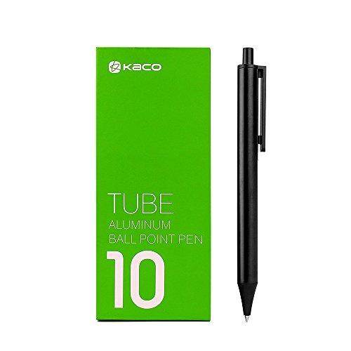 KACO Retractable Ballpoint Pens, Medium Point (1.0 mm), Black, 10-Count(I862)