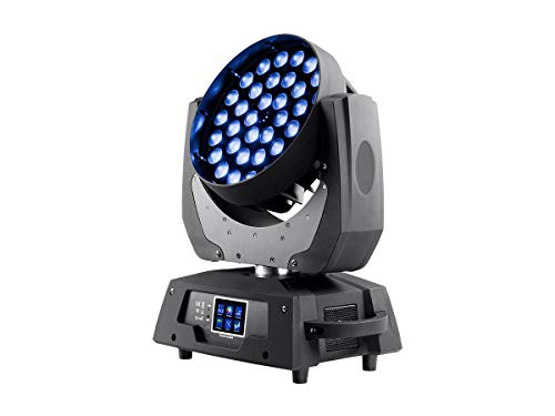 Monoprice Stage Right Stage Wash 10 Watt x 36 4-in-1 RGBW LEDs Moving Head with Zoom, DMX Control Modes/Touch Screen menu / 16 Channel. ()