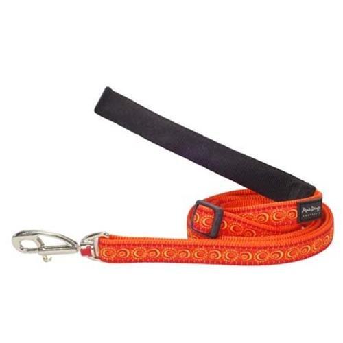 Red Dingo Cosmos Orange dog lead 4-6 ft Large
