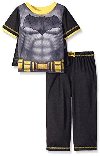 Batman Little Boys' 2 Piece Set with Cape, Black, (Batman Costumes Pajamas)