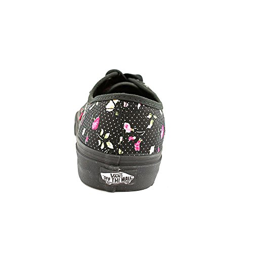VANS Floral Black Negro 36 Black Authentic Color Talla Dots Mujer 55IrqvUw
