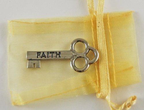 Cut Out Faith Charm (Faith Mini Key with Organza Bag)