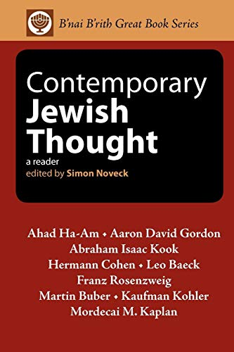Contemporary Jewish Thought: A Reader