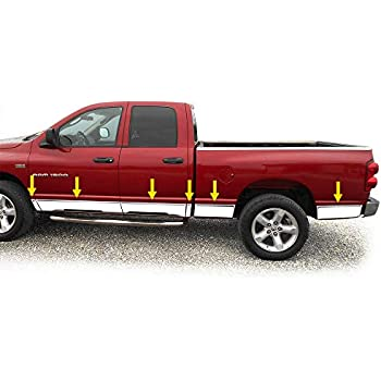 Works with 2002-2008 Dodge Ram Quad Cab Short Bed Rocker Panel Trim Body Moulding 5.5 Wide 12P Tyger Auto Made in USA