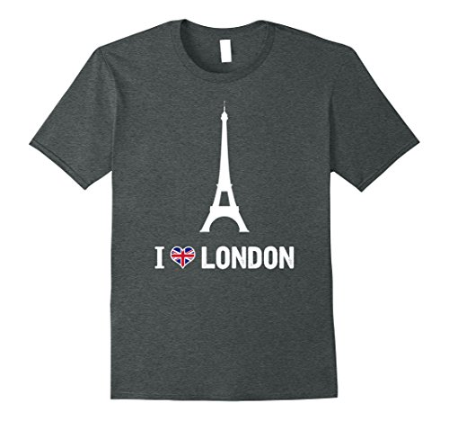 Mens I love London Prank T-Shirt with Eiffel Tower for sale  Delivered anywhere in USA