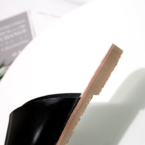 Sandali 555 Pantofole Righe Tacco Donna Peep Estivi Romano Incrociate A Toe XMY Da KJJDE 2 black Spiaggia Infradito Donna Sandali 5YRnxfxg