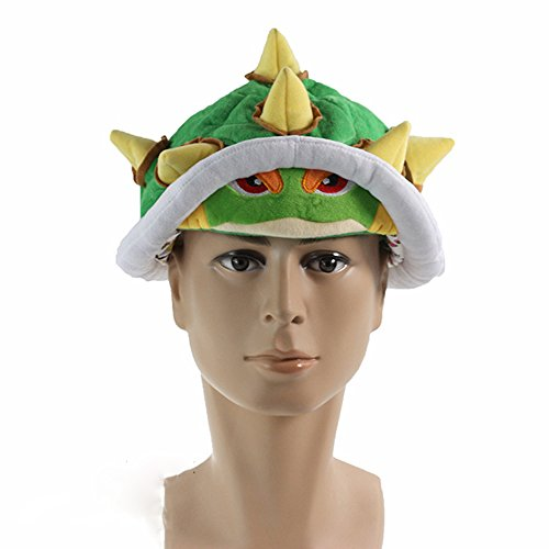 Super Mario Bros Plush Toys Plush Hat Soft Winter Hat Cap Cosplay Bowser Koopa Hats Cartoon Custume for Kids -