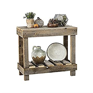 Del Hutson Designs Barnwood Entry Table Natural Barnwood
