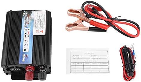 Solar Wechselrichter, Solar Power Inverter Wechselrichter 12 V Wechselrichter 220 V / 100 V 500 W Wechselrichter mit Solarpanel für Haushalt,Camping, Outdoor usw,Solar Inverter(12V bis 220V)