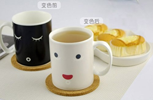 King's Store Changed the teacup,Morning Mug A cup of coffee (Color smiling face cup)