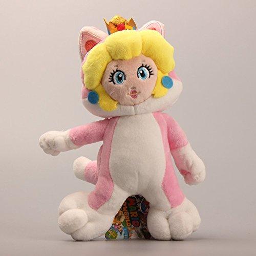 Super Mario 3D World Princess Peach Cat 9 Inch Toddler Stuffed Plush Kids (Princess Peach Cat)