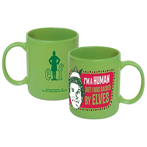 ICUP Elf The Movie I'm a Human Ceramic Mug, 11 oz, Clear by ICUP