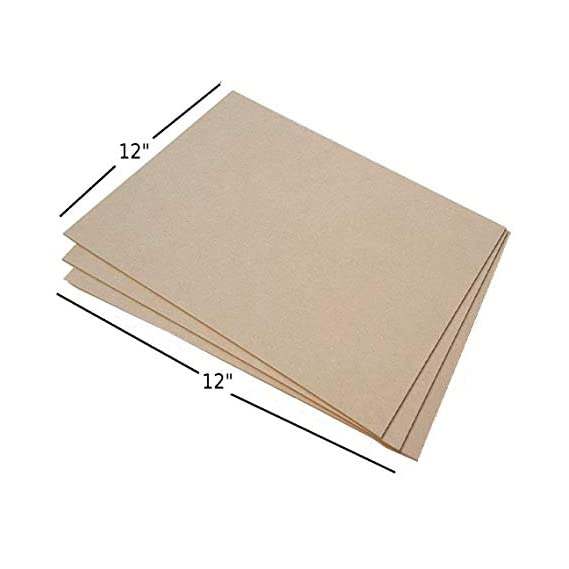 AKSHARAM Pine MDF Board Wood Sheets with 2.5 mm Thickness (12 inch x 12 inch) - Pack of 6