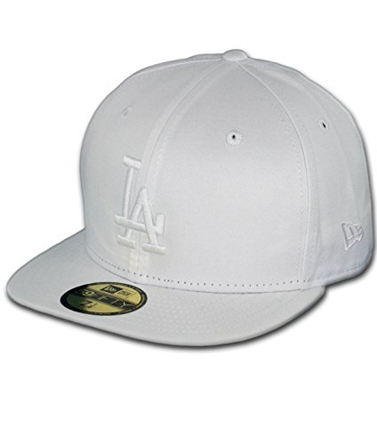 MLB Los Angeles Dodgers White on White 59FIFTY Fitted Cap, 7 3/4