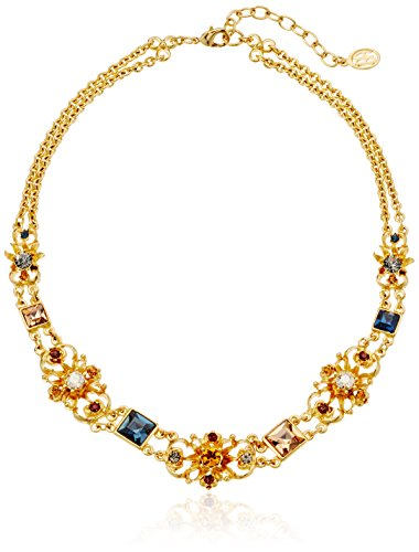 Ben-Amun Arabian Nights Collection Swarovski Crystal Gold Plated New York Fashion Jewelry, Deco Station Choker
