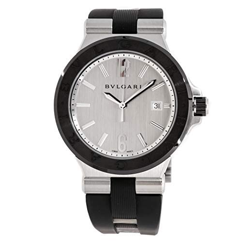 Bulgari Diagono Mechanical (Automatic) Silver Dial Mens Watch 102252 (Certified Pre-Owned)